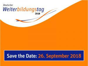 Save the Date: 26. September 2018
